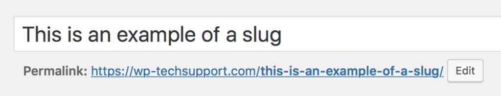 Example Slug for WordPress