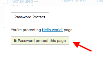 wordpress password protect