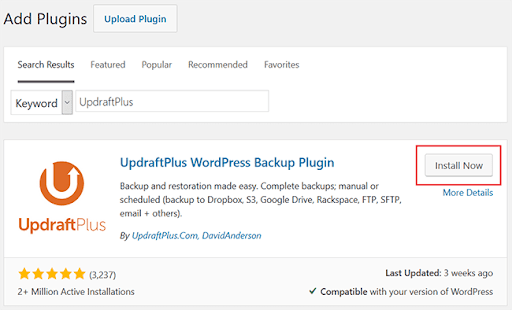 Updraft Plugins Screenshot
