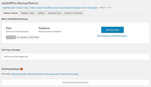 Updraftplus Backup Restore Image