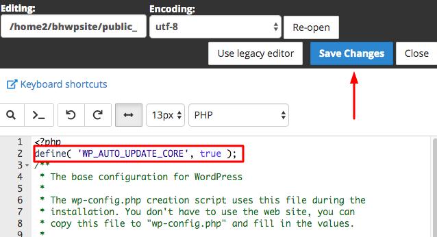 WP Auto Core Update