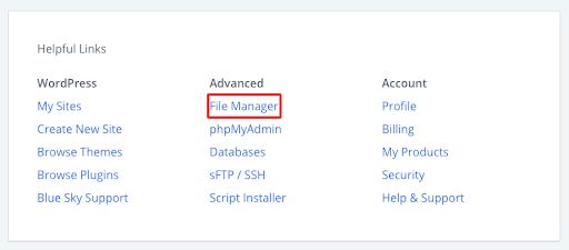 Wordpress File Manager