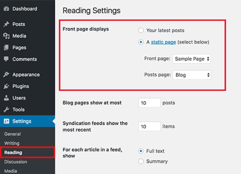 Wordpress Settings Image