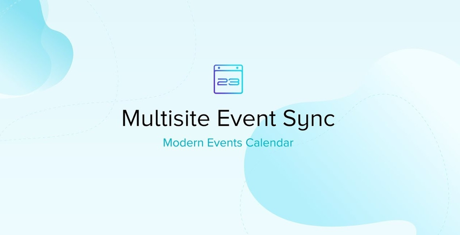 modern events calneder multisite event