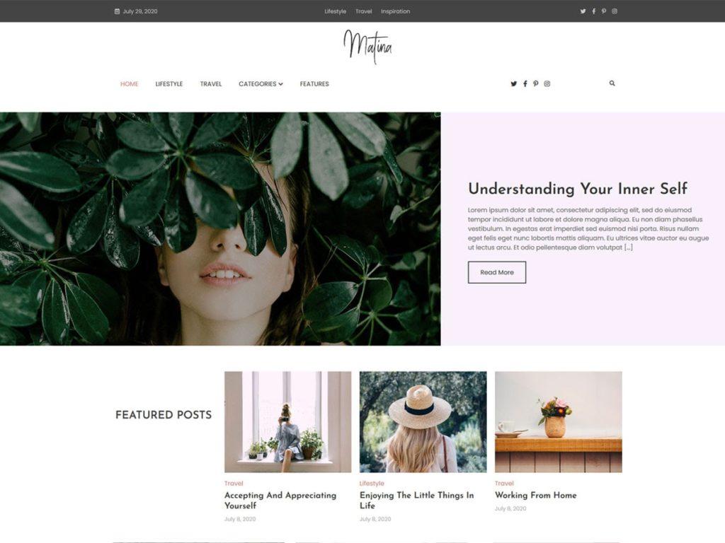 matina wordpress theme
