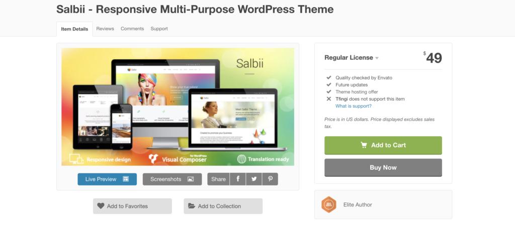 salbi wordpress theme