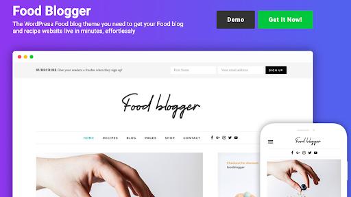 food blogger wordpress theme