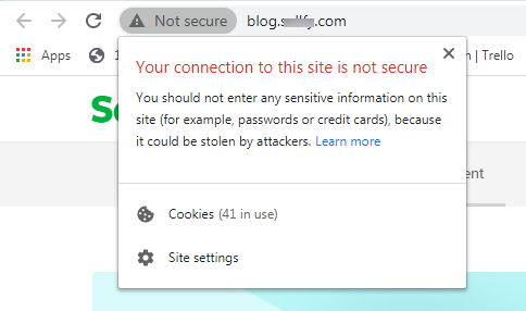 none secure web links