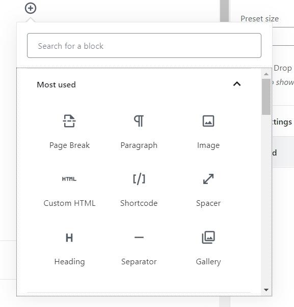 wordpress block