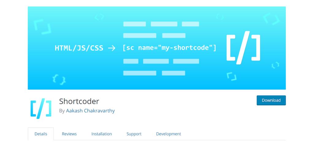 shortcoder plugin