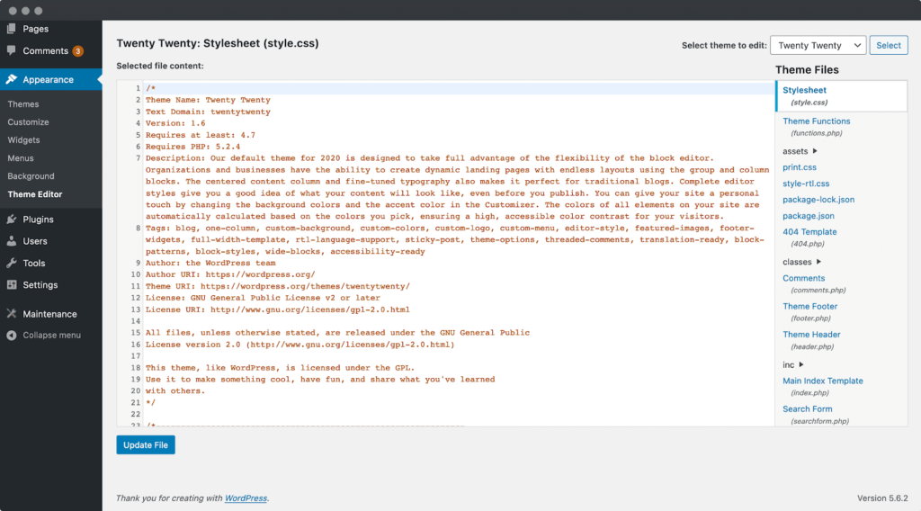 wordpress editor sidebar