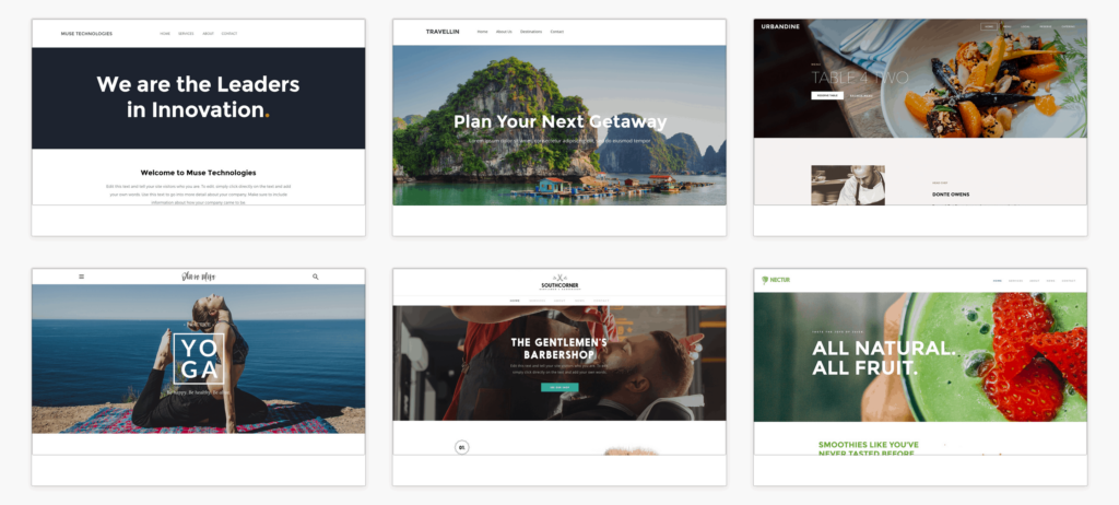The Weebly Template Library.