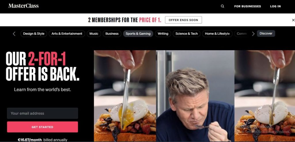 Masterclass Website