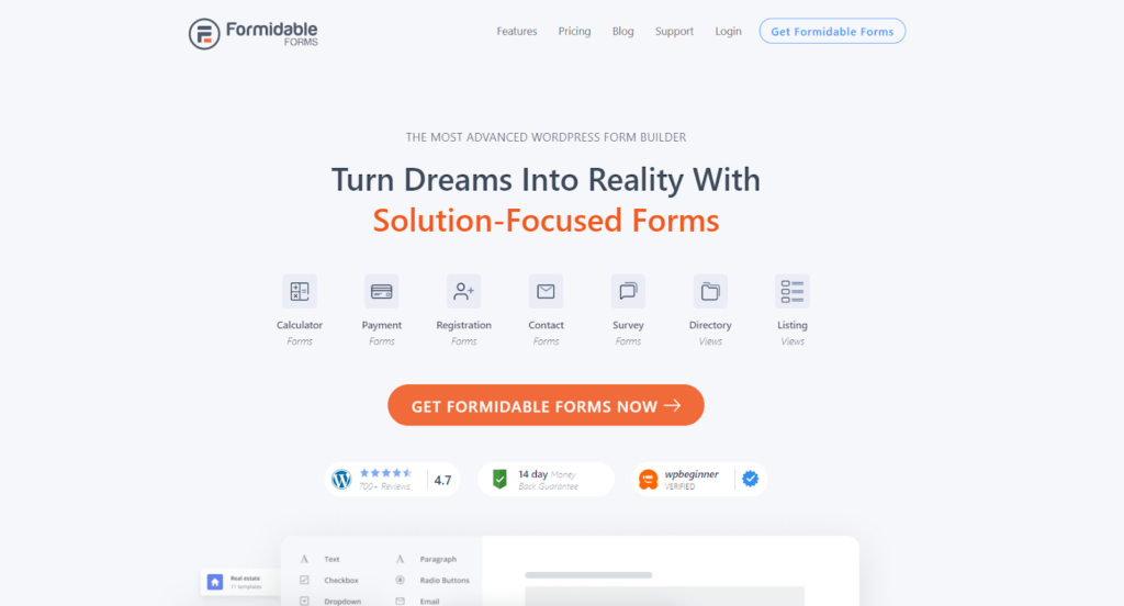 formidable forms wordpress