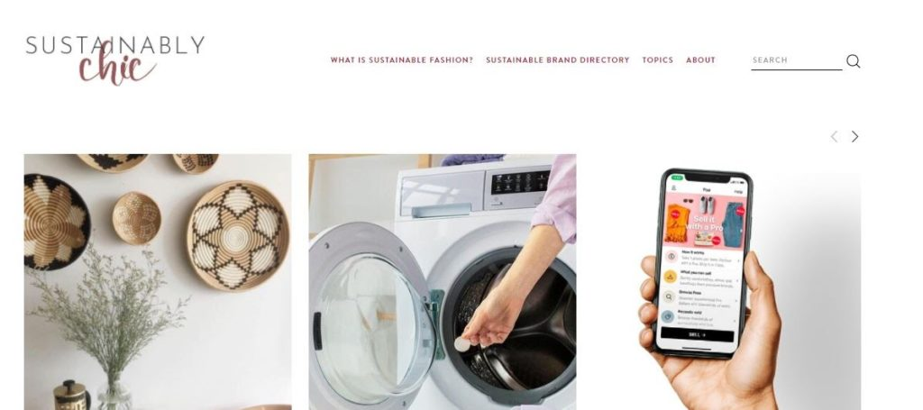 sustainably chic website