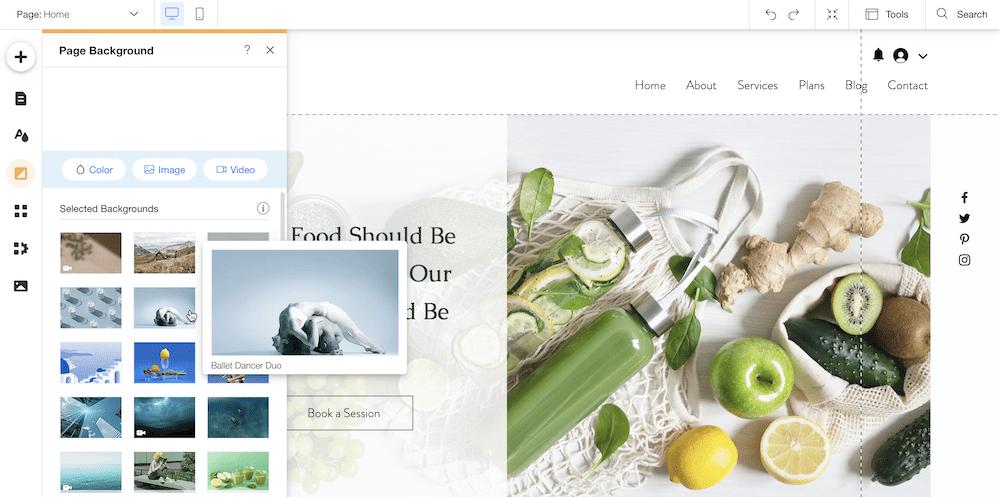 wix visual editor